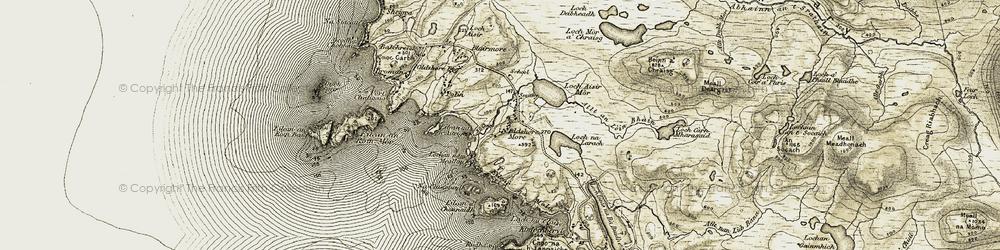 Old map of Allt an Lòin Bhàin in 1910