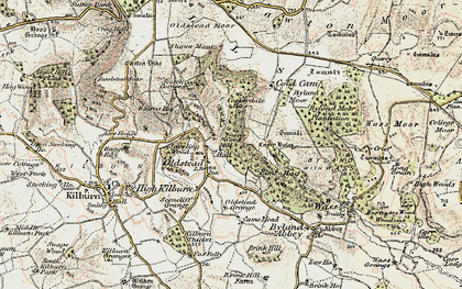 Old map of Sutton Bank in 1903-1904