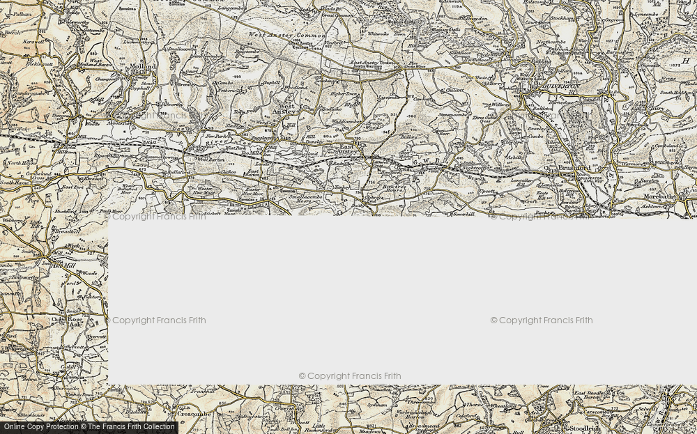 Old Map of Historic Map covering Allshire in 1899-1900
