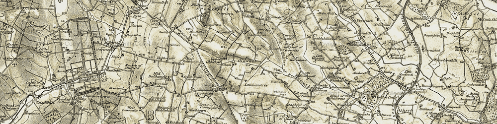 Old map of Alehousehill in 1909-1910
