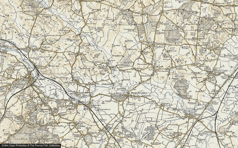 Old Map of Historic Map covering Bancroft in 1902