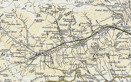 Old map of Ollerbrook Booth in 1902-1903