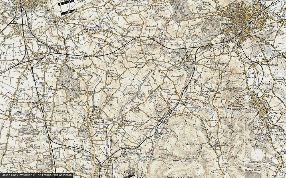 Old Map of Historic Map covering Leeds and Liverpool Canal in 1903