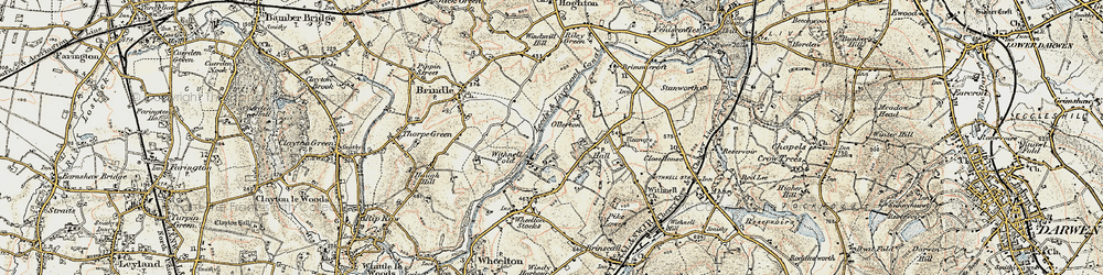 Old map of Leeds and Liverpool Canal in 1903