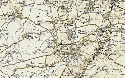 Old map of Olveston in 1899