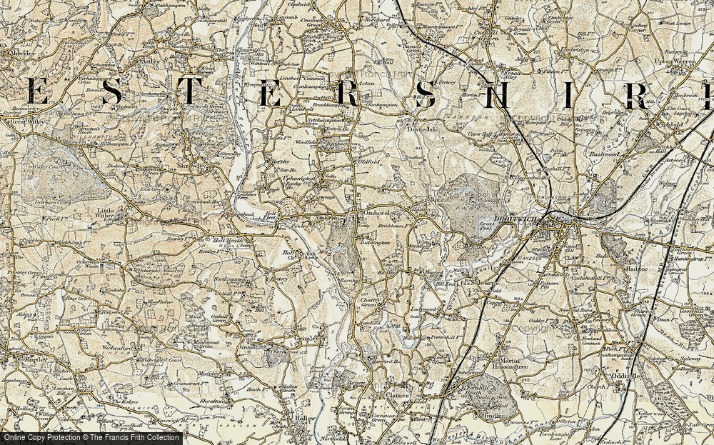 Old Map of Ombersley, 1899-1902 in 1899-1902