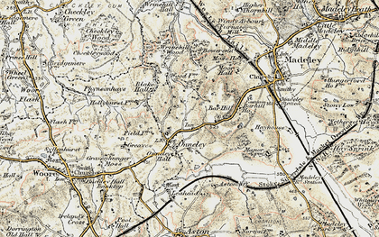 Old map of Wrinehill Wood in 1902