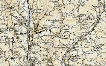 Old map of Openwoodgate in 1902