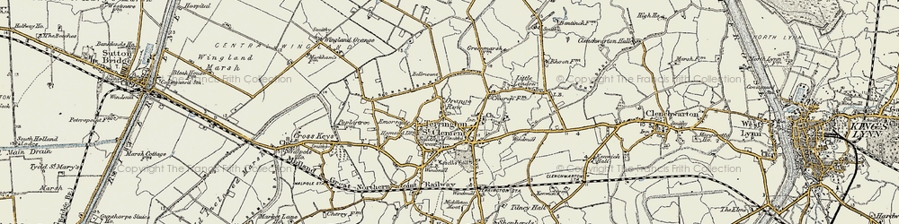 Old map of Alma Lodge in 1901-1902