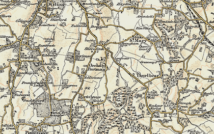 Old map of Orchard Portman in 1898-1900