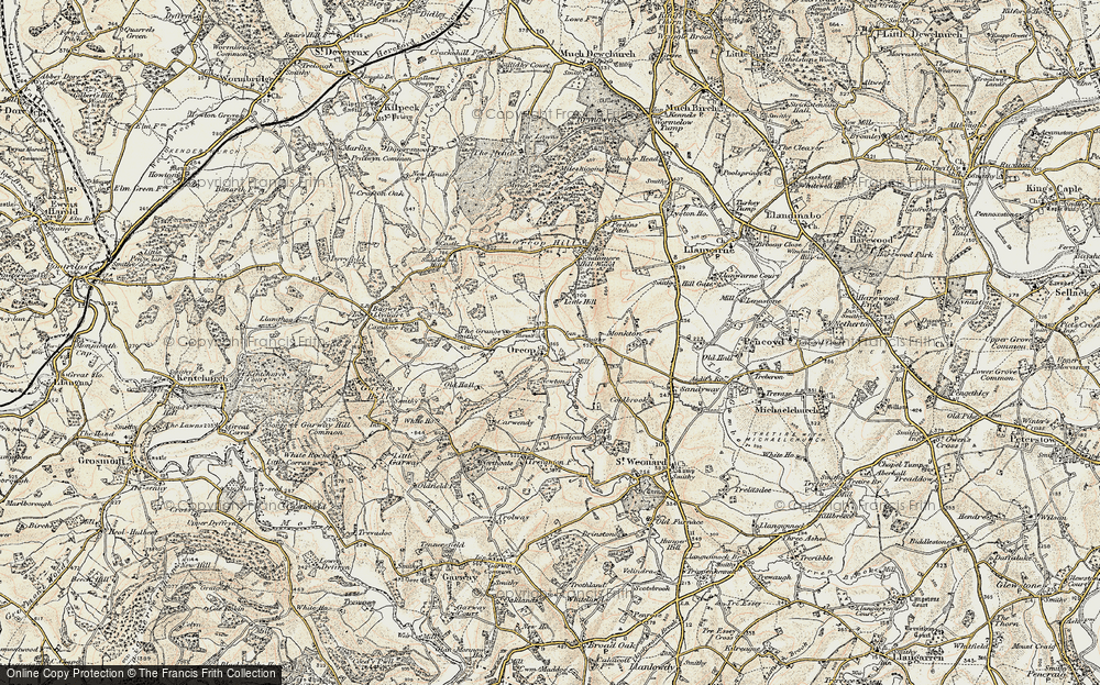 Old Map of Orcop, 1900 in 1900