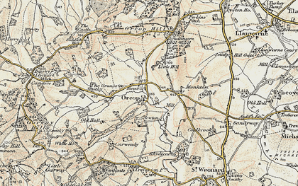 Old map of Orcop in 1900