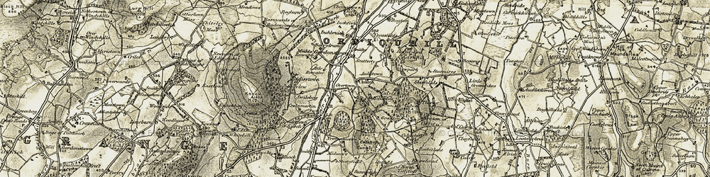 Old map of Wether Hill in 1910