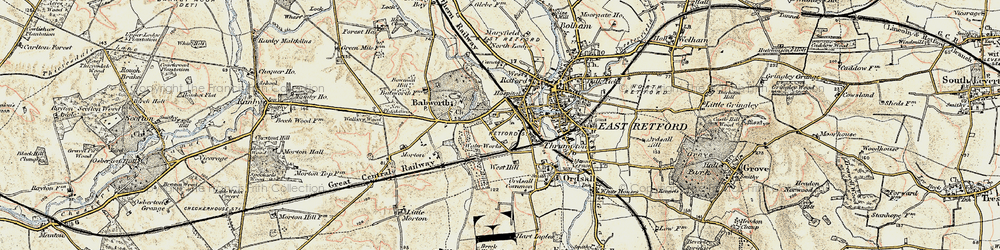 Old map of Whisker Hill in 1902-1903