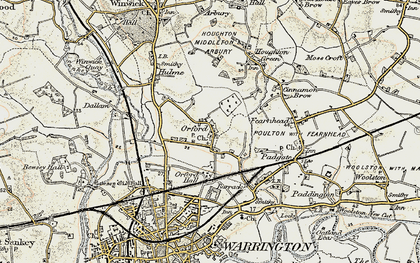 Old map of Orford in 1903