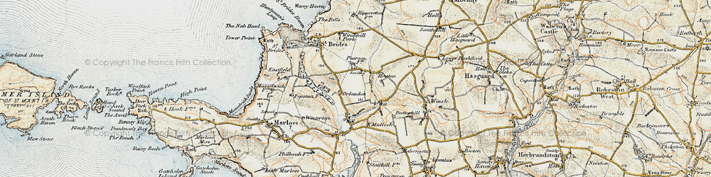 Old map of Winsle in 0-1912