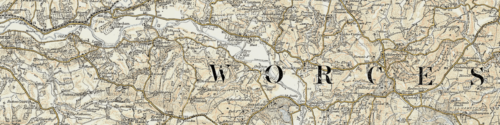 Old map of Orleton in 1901-1902