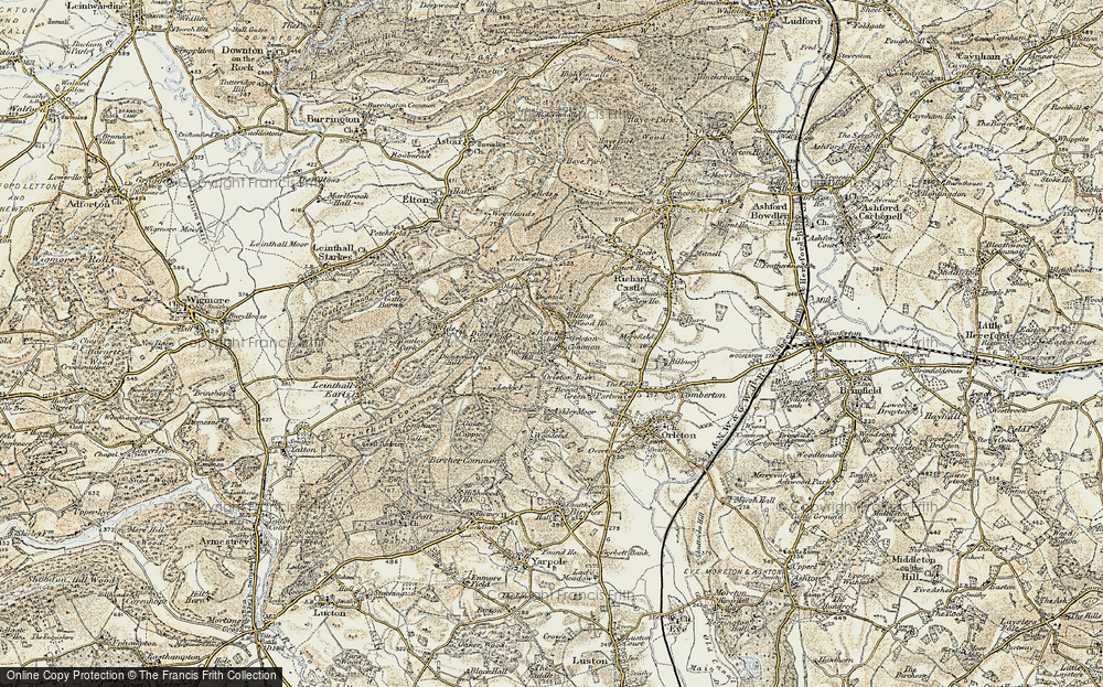 Old Map of Historic Map covering Woodcock Hill in 1901-1903