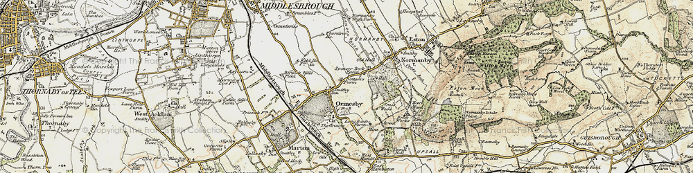 Old map of Ormesby in 1903-1904