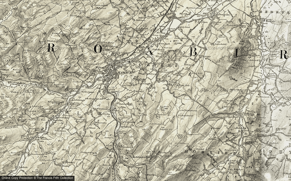 Old Map of Historic Map covering Adderston Lee in 1901-1904