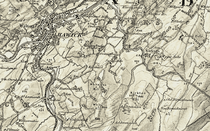 Old map of Whiteacres Hill in 1901-1904