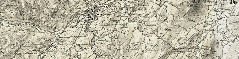 Old map of Adderston Lee in 1901-1904
