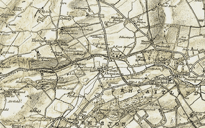 Old map of Ormiston in 1903-1904