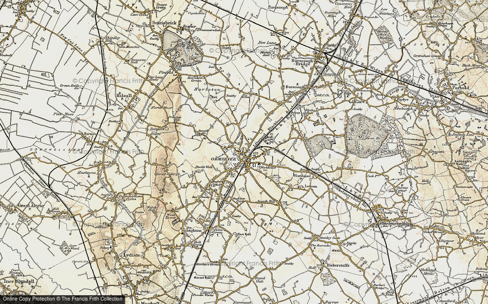 Old Map of Ormskirk, 1902-1903 in 1902-1903