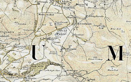 Old map of White Hause in 1901-1904