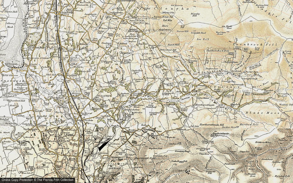 Old Map of Historic Map covering Lentworth Hall in 1903-1904