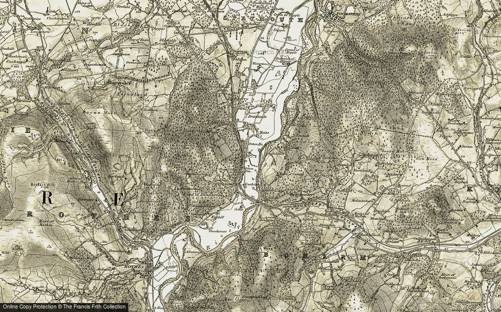 Old Map of Historic Map covering Woodhead of Cairnty in 1910