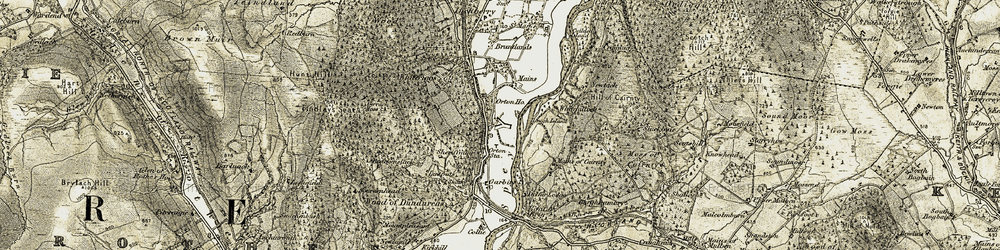 Old map of Woodhead of Cairnty in 1910