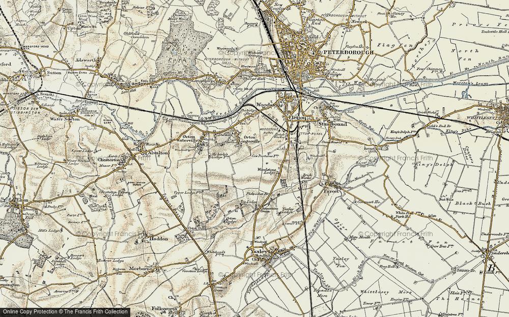 Old Map of Orton Malborne, 1901-1902 in 1901-1902