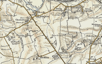 Old map of Toon's Lodge in 1901-1902