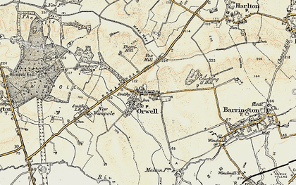 Old map of Orwell in 1899-1901