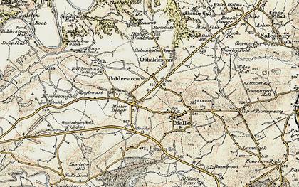 Old map of Osbaldeston in 1903