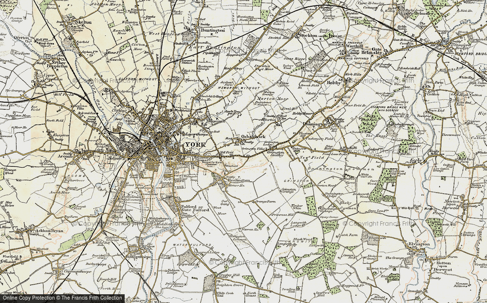 Old Map of Osbaldwick, 1903 in 1903