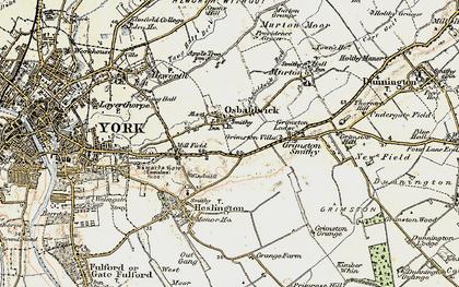 Old map of Osbaldwick in 1903