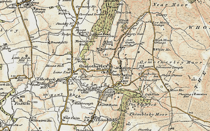 Old map of Osmotherley in 1903-1904