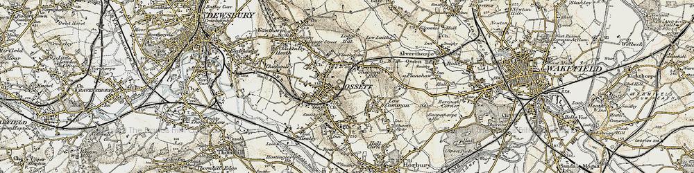 Old map of Ossett in 1903