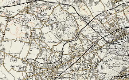 Old map of Osterley in 1897-1909
