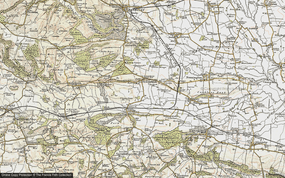 Old Map of Historic Map covering Leysthorpe in 1903-1904