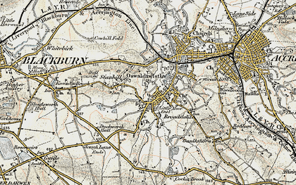 Old map of Oswaldtwistle in 1903