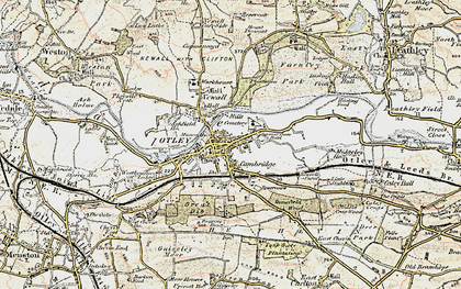 Old map of Otley in 1903-1904