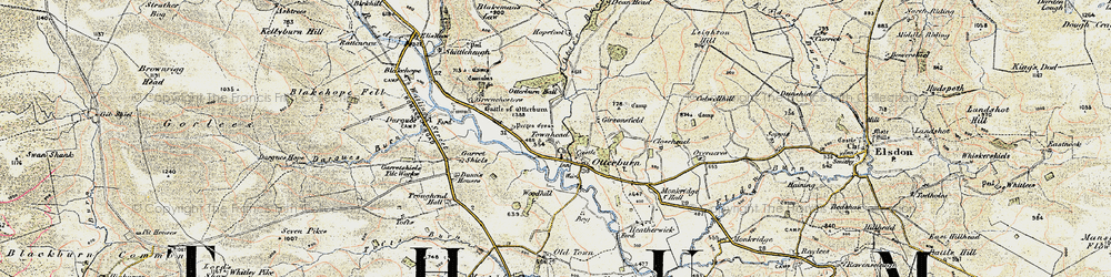 Old map of Woodhill in 1901-1904