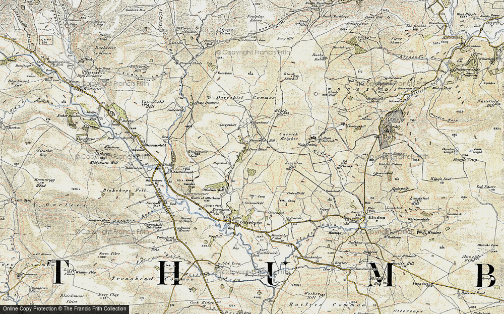 Old Map of Historic Map covering Leighton Hill in 1901-1903