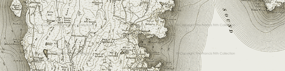 Old map of White Wife in 1912