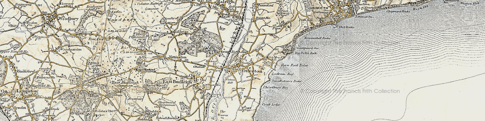 Old map of Otterton in 1899