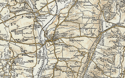 Old map of Ottery St Mary in 1898-1900