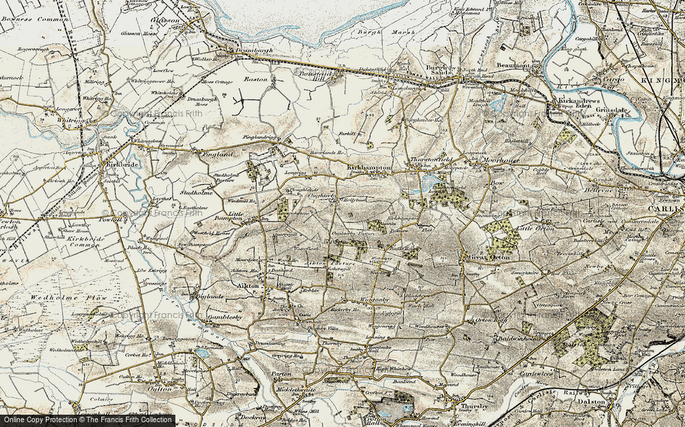 Old Map of Historic Map covering Laverickstone in 1901-1904